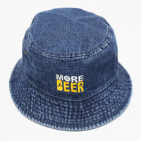 MORE BEER BUCKET HAT DARK DENIM)