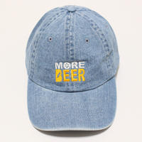 MORE BEER LOW CAP (WASH DENIM×BEER COLOR)