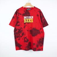 MORE BEER「TIE DYE BIG LOGO TEE(RED&BLACK)」