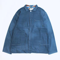 "A HOPE HEMP × JAVARA ""HEMP LINE""  FLY FRONT SHIRTS JKT(NAVY)"