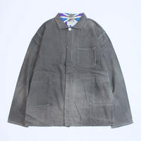 A HOPE HEMP × JAVARA「HEMP LINE FLY FRONT SHIRTS JKT(GRAY)」