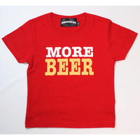 MORE BEER TYPE2 LOGO KID'S TEE(RED)