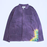 A HOPE HEMP × JAVARA「SNOW DROP FLY FRONT SHIRTS JKT(PURPLE)」