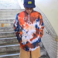 "JAVARA ""TIE DYE HALF ZIP SWEAT"""