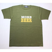 MORE BEER「BIG LOGO TEE(KHAKI)」