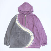 A HOPE HEMP × JAVARA「S HALF ZIP HOOD JKT(PURPLE&GRAY)」