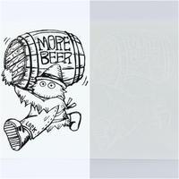 MORE BEER × Lock「BEER BARELL STICKER」