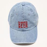 MORE BEER LOW CAP (WASH DENIM×RED)