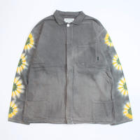 A HOPE HEMP × JAVARA「FLOWER LINE FLY FRONT SHIRTS JKT(GRAY)」