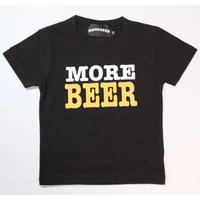 MORE BEER TYPE2 LOGO KID'S TEE(CHARCOAL BLACK)