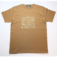 MORE BEER × Lock LOGO TEE(CAMEL)