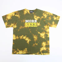 MORE BEER「BIG LOGO TEE(KHAKI MARBLE)」