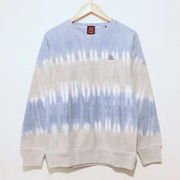 JAVARA「BORDER CREW NECK SWEAT(GRAY+BLUE)」