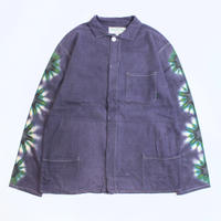 A HOPE HEMP × JAVARA「FLOWER LINE FLY FRONT SHIRTS JKT(PURPLE)」