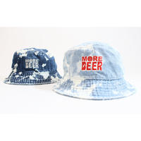 MORE BEER LOGO BUCKET HAT (CHEMICAL DENIM)