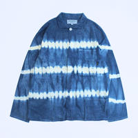 A HOPE HEMP × JAVARA「BORDER FLY FRONT SHIRTS JKT(INDIDO)」