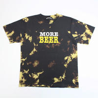 MORE BEER「BIG LOGO TEE(CHARCOAL BLACK MARBLE)」