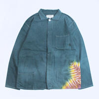 "A HOPE HEMP × JAVARA ""SNOW DROP""  FLY FRONT SHIRTS JKT(GREEN)"