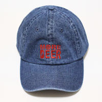 MORE BEER LOW CAP (DARK DENIM×RED)
