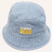 MORE BEER BUCKET HAT (WASH DENIM)