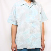 "A HOPE HEMP × JAVARA ""MARBLE"" 開襟シャツ(GRAY×MINT)"