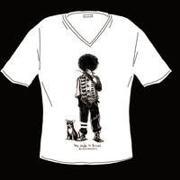 VネックTシャツ-S