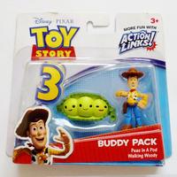 2010年 トイストーリー3  バディパック シリーズ お豆三兄妹/ウッディ TOY STORY Mattel Budy Pack  Peas In A Pod / Woody