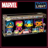 ファンコ ポップ マーベル ブラックライト シリーズ 4種セット Funko Pop!MARVEL:BLACK LIGHT Series  set of 4