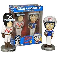 """2007年ファンコ ワッキーワブラー 『マッハGOGOGO』三船 剛& 覆面レーサー Funko Wacky Wobbler """"Speed Racer""""Speed Racer & RacerX"""