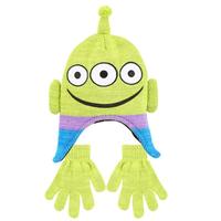 トイストーリー エイリアン  キッズ用  ニットキャップと手袋のセット