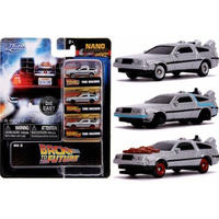 Jada Toys Nano Hollywood Rides  バックトゥザフューチャー  デロリアン  3台セット