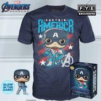 ファンコ  ポップ  『アベンジャーズ 4』キャプテンアメリカ Tシャツセット Funko POP! & Tshirt  Avengers: Endgame -Captain America