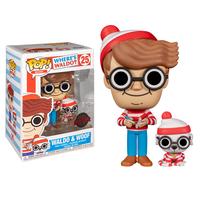 """ファンコ ポップ 『ウォーリーをさがせ! 』ウォーリー&ウーフ   Funko Pop! """"Where's Waldo?""""  Waldo & Woof"""
