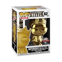 ファンコ ポップ 『ノトーリアス・B.I.G.』ウィズ クラウン(ゴールド)  FUNKO POP! Notorious B.I.G. with Crown (GOLD CHROME)