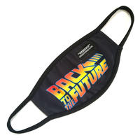 Hype「バック・トゥ・ザ・フューチャー」大人用マスク HYPE X BACK TO THE FUTURE BLACK LOGO ADULT FACE MASK