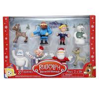 『ルドルフ 赤鼻のトナカイ』ミニフィギュア 8体セット Rudolph the Red-Nosed Reindeer 8pc Figurines Set