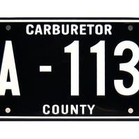ピクサー カーズ メーターのライセンスプレート CARS Mater  License Plate