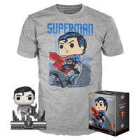 ファンコ  ポップ  DCコミックス ジム・リー『スーパーマン』Tシャツセット POP! and Tee: Superman  by Jim Lee T-Shirt