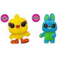 ファンコ ポップ 『トイストーリー4』限定フロック版 ダッキー&バニー FUNKO POP!  TOY STORY4   Ducky & Bunny (Flocked)