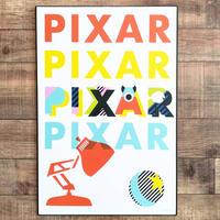 ピクサー『PIXAR』ロゴ 木製ウォールアート