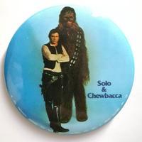 1977年 『スターウォーズ』缶バッジ ハン・ソロ & チューバッカ