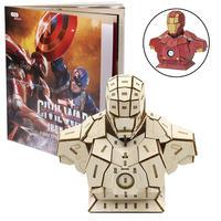 【送料込み】マーベル 木製組立てキット アイアンマン  3D Wood Models  Iron Man