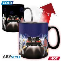 バックトゥザフューチャー  温度で柄が変わる ヒートチェンジ マグカップ