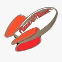 トイストーリー Pizza Planet エナメル製 ピンバッジ【ロケット】