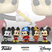 ファンコ ポップ ウォルトディズニーアーカイブス50周年 ミッキーマウス5体セット Funko Pop! Disney Archives - Mickey Mouse 5 Pack