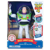 トイストーリー4 インタラクティブ・バズ・ライトイヤー Toy Story 4 Buzz Lightyear, with Interactive Drop-Down Action