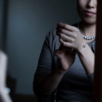 【bracelet】18K 1 point akoya light gray baroque pearl