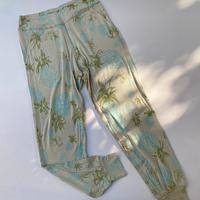 ポケット付きアラジンパンツ(グレージュ・パイナップル柄)no.380