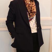 トリコロールレオパードスカーフ