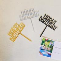 Happy birth day ケーキトッパー